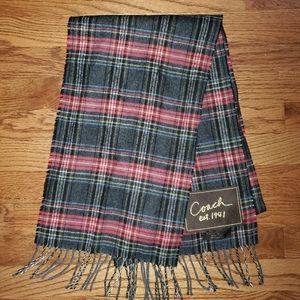 Coach plaid scarf